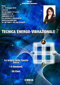 Tecnica Energo-Vibrazionale 7 Roma Sede Centrale @ Roma CRESS Sede Centrale | Roma | Lazio | Italia