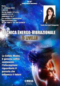 Tecnica Energo-Vibrazionale livello 5 Roma 9-10/03/2019